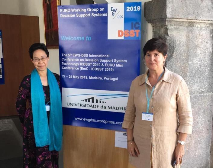 Shaofeng Liu and Pascale Zaraté at ICDSST-2019